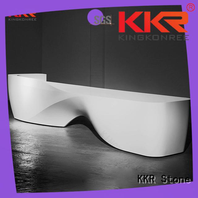 black curved reception desk order now for bar table KKR Stone