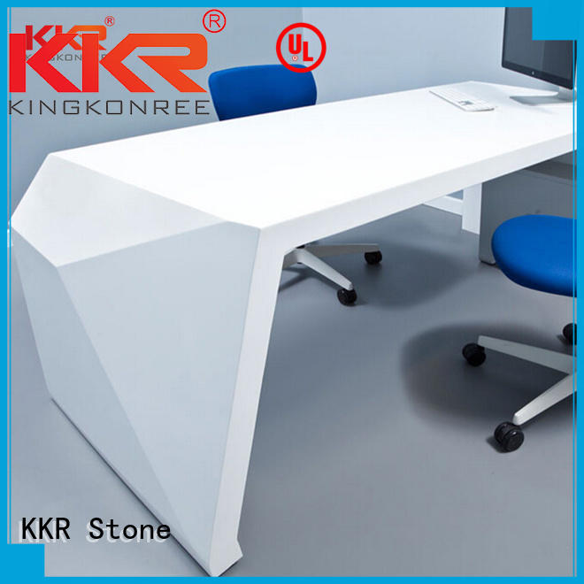 diamond curved reception desk free quote for home KKR Stone