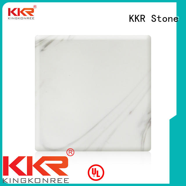 marble solid surface length for garden table KKR Stone