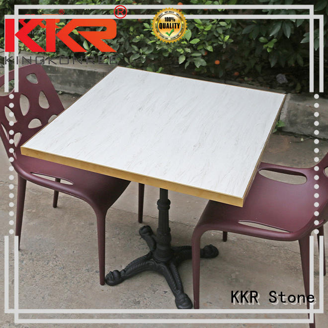 KKR Stone acrylic marble top dining table sets