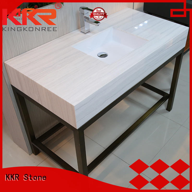 KKR Stone pattern solid surface countertop  supply for home