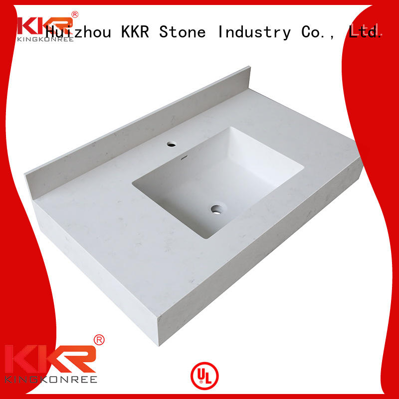 KKR Stone good Quality solid surface bathroom countertops supplier for table tops