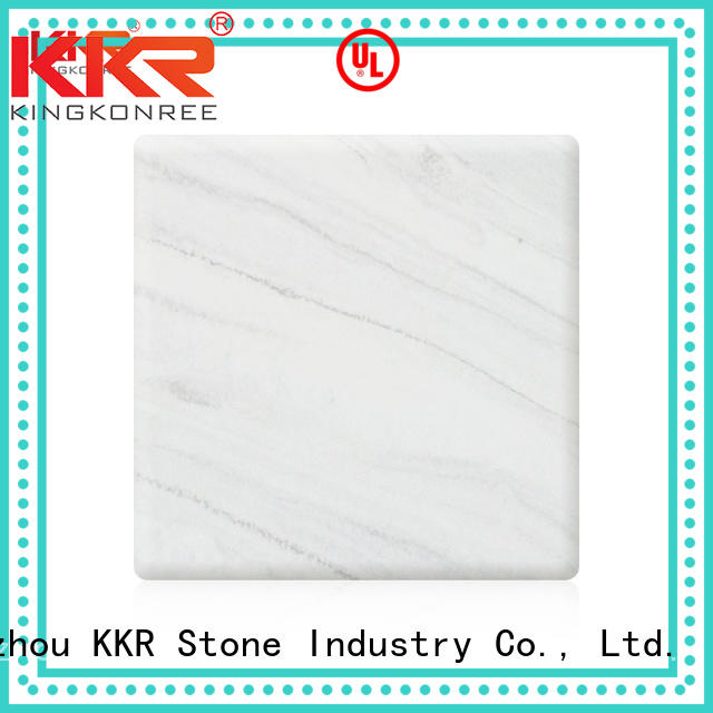 KKR Stone texture solid surface panels supply for building
