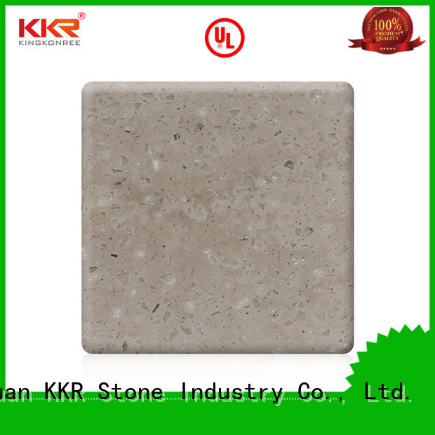 KKR Stone high-quality solid surface sheet widely-use for worktops