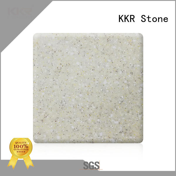 KKR Stone easily repairable solid surface sheet sheets for kitchen tops
