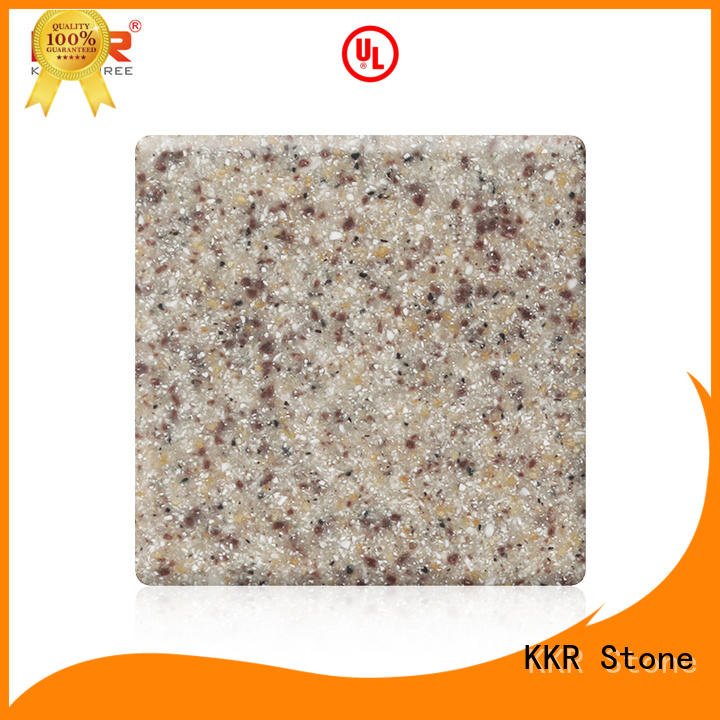 KKR Stone renewable modified acrylic solid surface superior stain for bar table