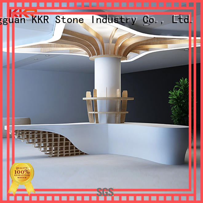 customize curved reception desk certifications for kitchen tops KKR Stone