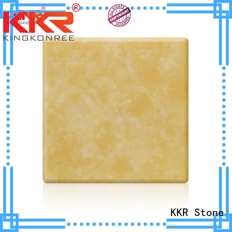 KKR Stone retardant translucent solid surface material solid furniture set