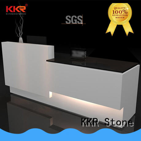 KKR Stone desk solid surface reception desk free quote for worktops