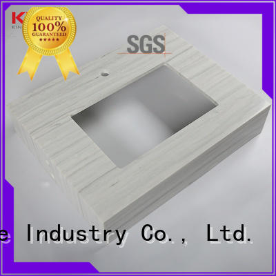 KKR Stone double Sink solid surface countertop long-term-use