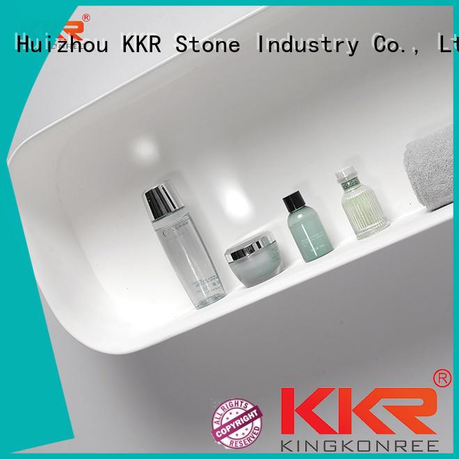 KKR Stone acrylic stool factory for bathroom