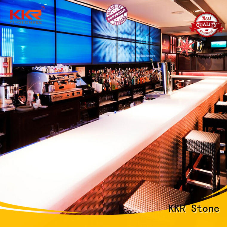 artificial marble dining table KKR Stone