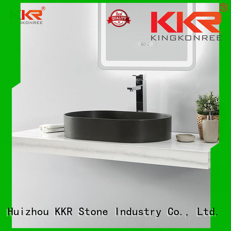 KKR Stone high tenacity countertop basin vendor for worktops