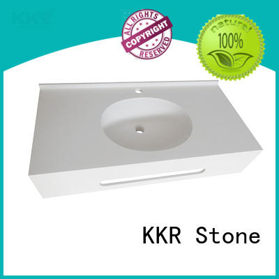 design acrylic solid surface countertops widely-use for school building KKR Stone