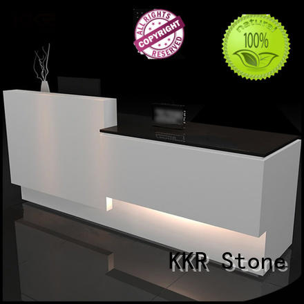 KKR Stone simple solid surface reception desk certifications for table tops