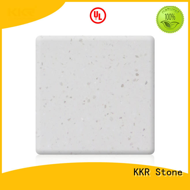 easy to clean solid surface acrilyc sheet superior chemical resistance for kitchen tops KKR Stone