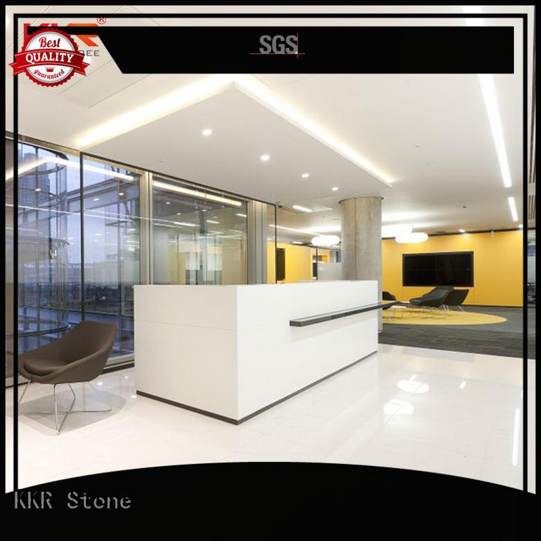 curved reception desk black for school building KKR Stone