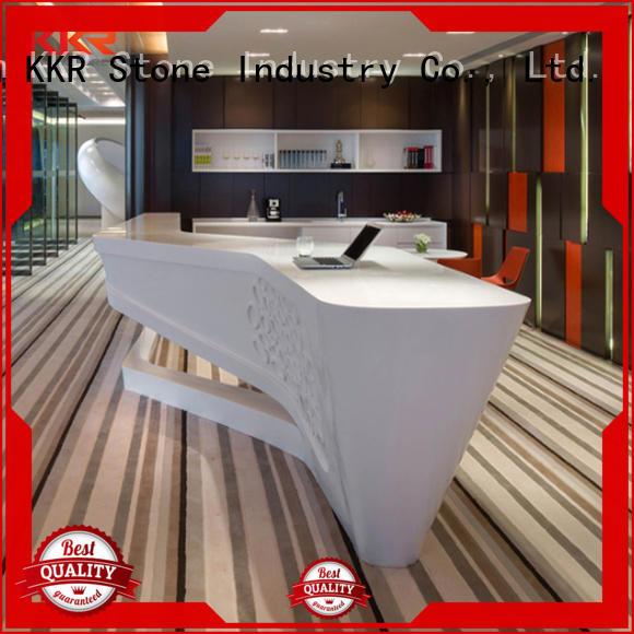 KKR Stone customize acrylic counter top desk for worktops