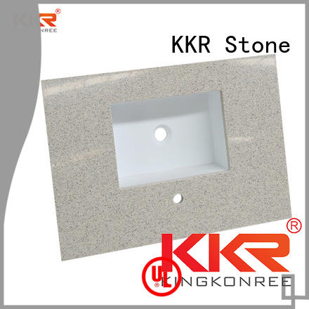 KKR Stone custom-made solid surface bathroom countertops  supply for table tops