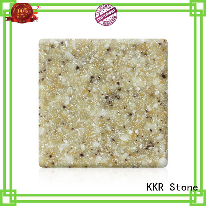 thickness solid surface acrylics length for garden table KKR Stone