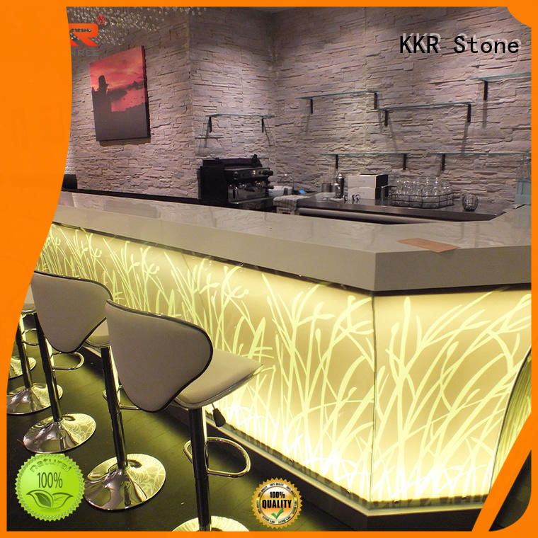 KKR Stone counter artificial marble dining table