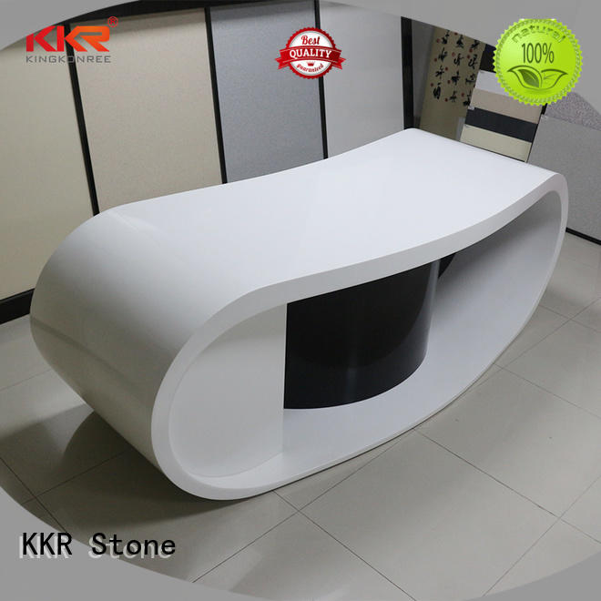 modified acrylic reception desk countertop table for worktops