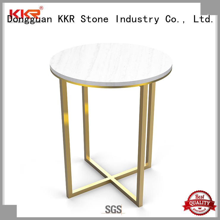 KKR Stone marble round dining table acrylic