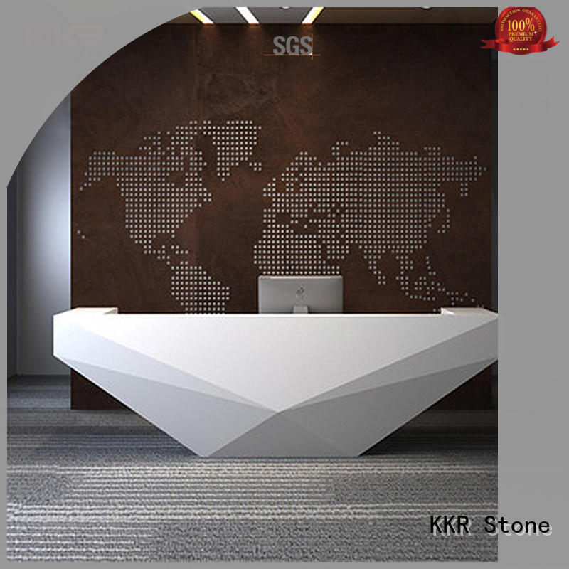 KKR Stone marble reception desk countertop in special shapes for entertainment