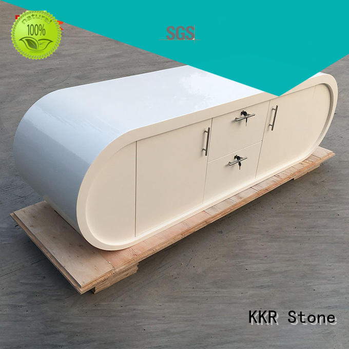KKR Stone fashion design acrylic solid surface worktops free quote for home