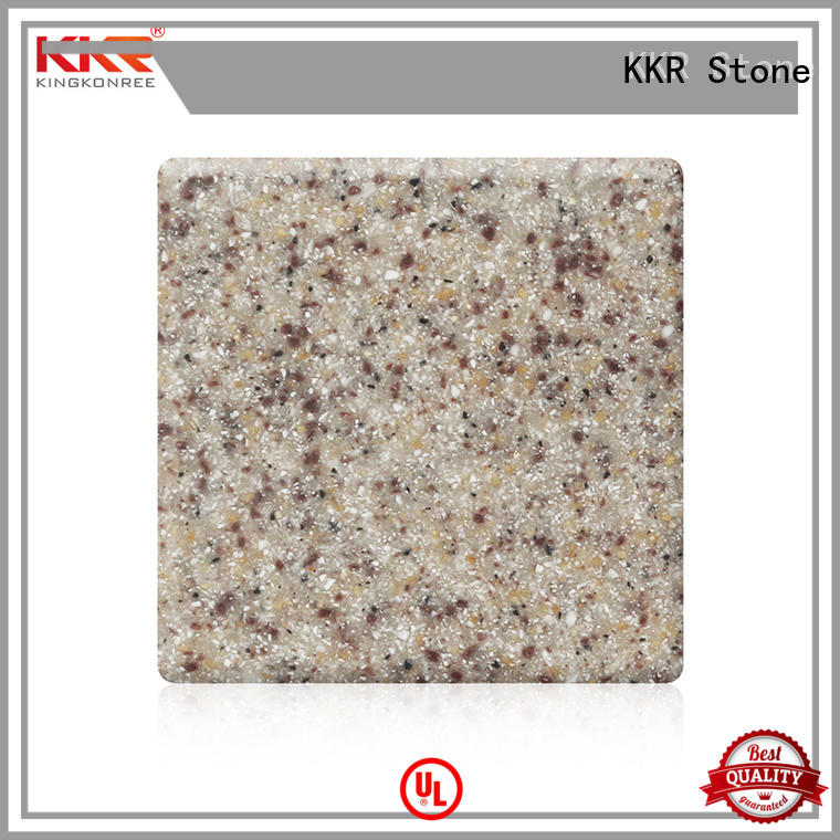 KKR Stone No bubbles modified acrylic solid surface superior chemical resistance for worktops