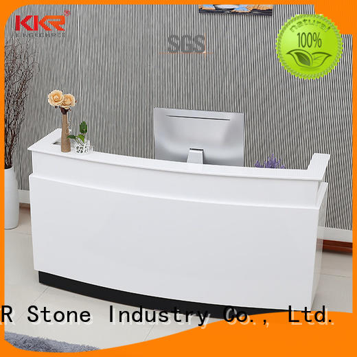 simple modern reception desk for school building KKR Stone