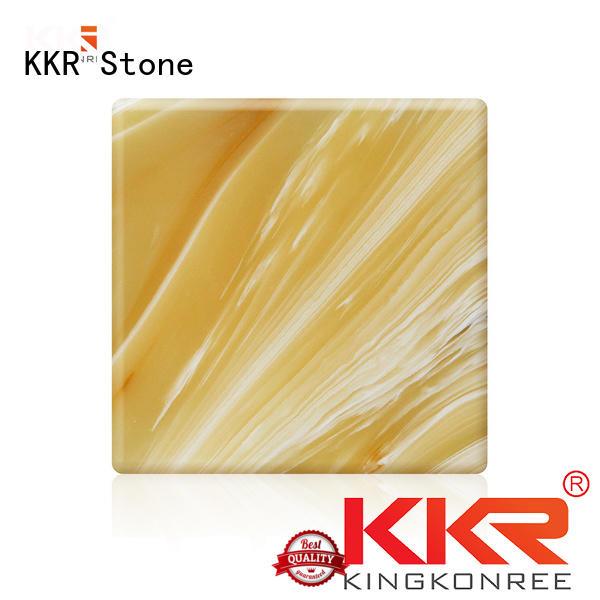 kkra028 translucent resin panel factory price for garden table KKR Stone