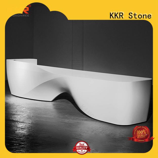 white modern reception desk for home KKR Stone