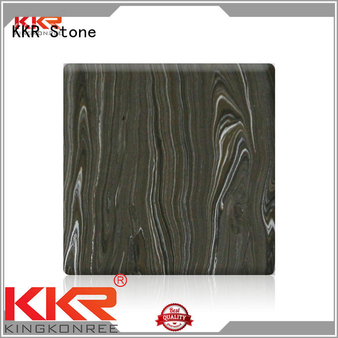 KKR Stone flame-retardant solid surface panels for bar table