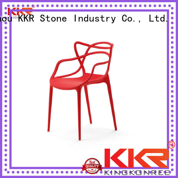 KKR Stone colorful plastic outdoor chairs type for garden