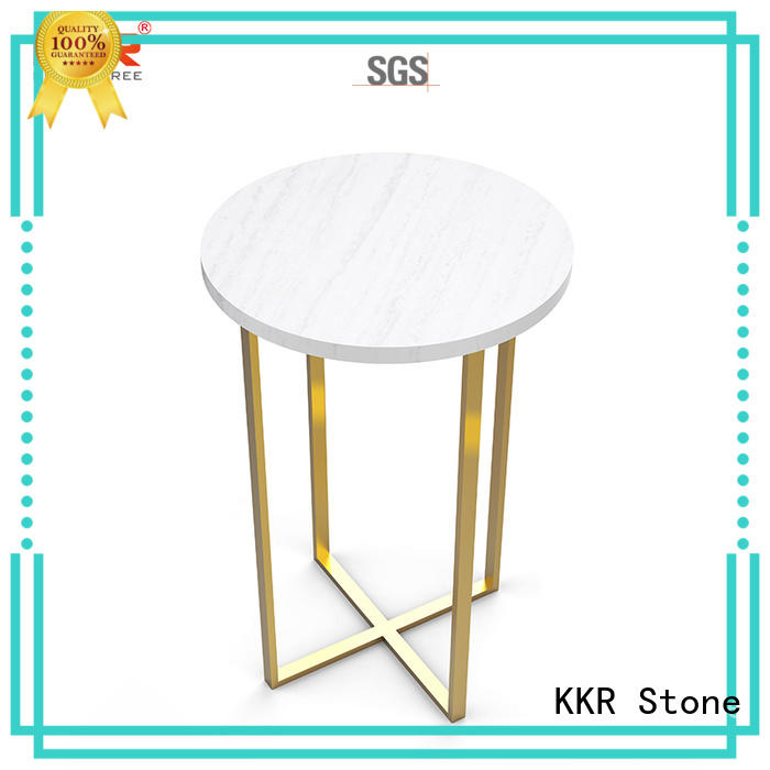 KKR Stone marble top dining table sets