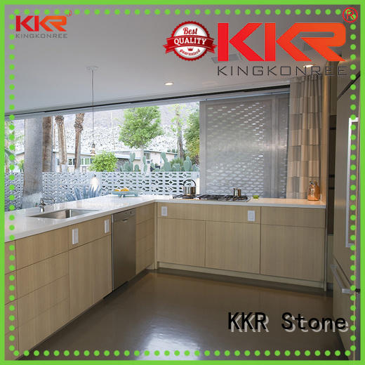 KKR Stone quality resin solid kitchen countertops wholesale for shoolbuilding