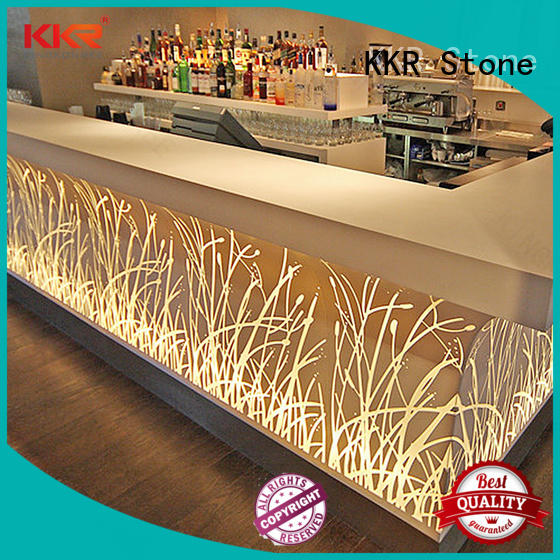 acrylic artificial marble dining table table KKR Stone