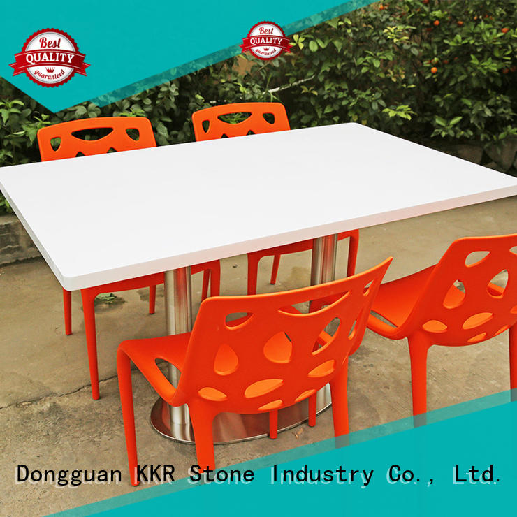 KKR Stone marble dining table and chairs
