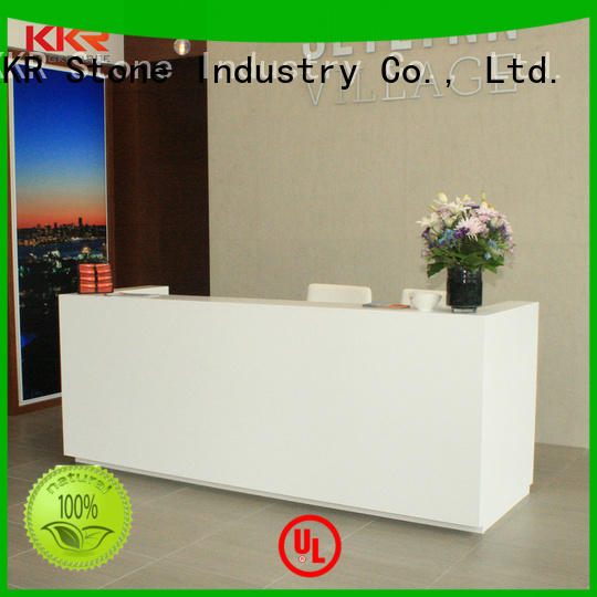 KKR Stone desk solid surface desk free quote for table tops