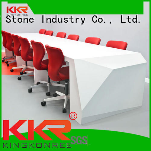 KKR Stone lassic style reception desk countertop for school building