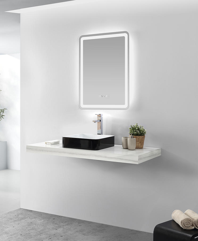 easy to clean corian bathroom sinks in special shapes for table tops-1