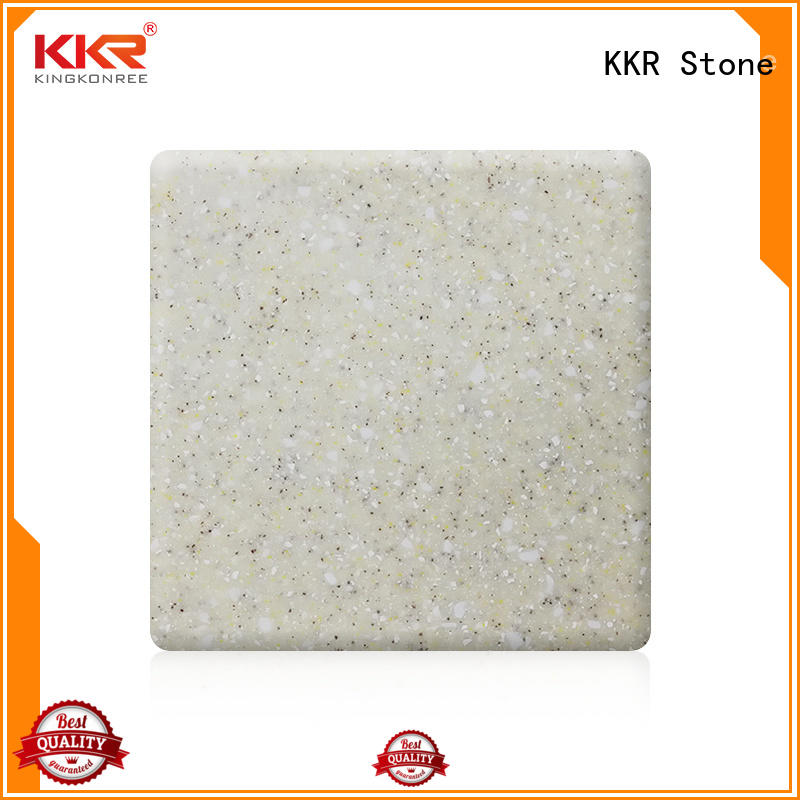 KKR Stone color solid surface factory superior bacteria for worktops