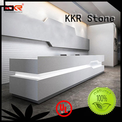 reception desk design sales for building KKR Stone