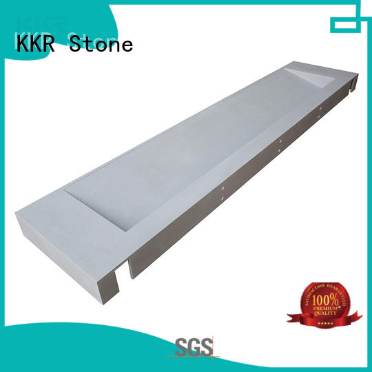 KKR Stone double Sink bathroom vanity tops China for home