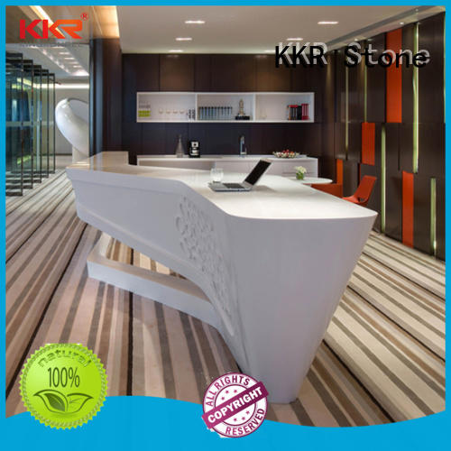 modified acrylic reception desk design custom-design for kitchen tops KKR Stone