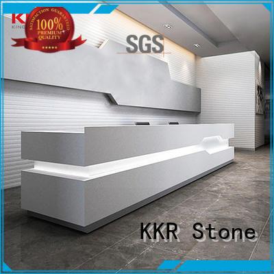 desk modern reception desk design for table tops KKR Stone