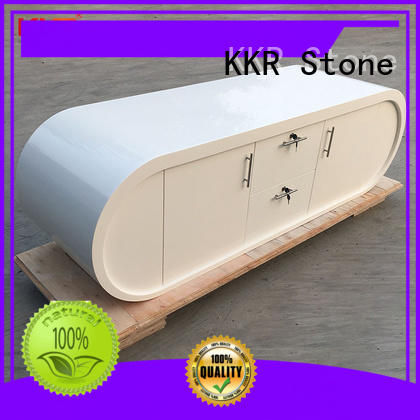 solid surface desk stone for entertainment KKR Stone