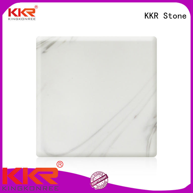KKR Stone decorative corian solid surface sheet factory for home