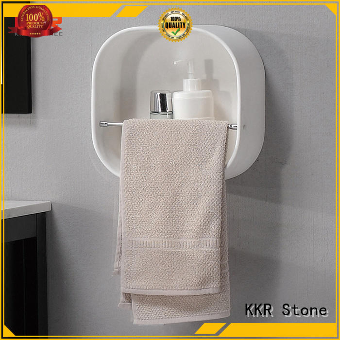 KKR Stone good Quality acrylic slatwall shelves  manufacturer for hotel